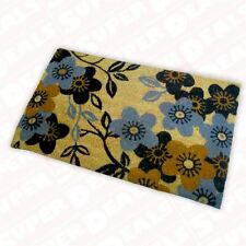 large floral patternded outdoor door mat coir matting
