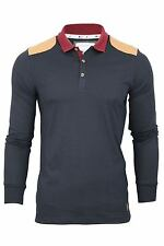 D-Code Mens Polo T-Shirt Jersey 'Luca' Long Sleeved