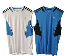 ADIDAS 365 SL RUNNING VEST MENS SIZES SMALL TO XL  BNWT BLUE OR WHITE.