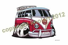 Koolart VW Camper Vans Rim & Handle Mugs Picture Both Sides  lots to Choose from