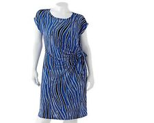 Dana Buchman Pleated Shift Dress - Women's Plus 0X (New W/Tags)(Ret $70)