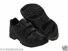 NEW BALANCE SMALL KIDS KV624ABY BLACK LEATHER TENNIS SCHOOL SHOES VELCRO WIDE