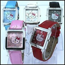 Cute Square HelloKitty Quartz Wristwatch  -  UK Seller