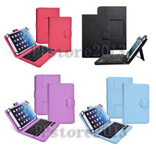 "Detachable Wireless Bluetooth Keyboard Protection Leather Case For 7-8.3"" Tablet"