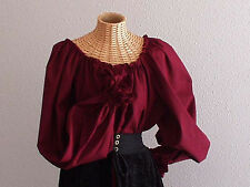 HANDMADE RENAISSANCE SCA LADYS SEXY BLOUSE CHEMISE IN YOUR SIZE, FABRIC & COLOR!