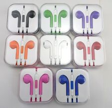 Earphone Earbud Headset Headphone Remote w Mic for iPhone 5 iPod 3.5mm for Apple