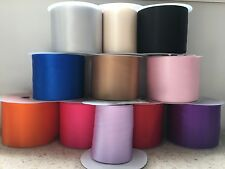 "Satin Ribbon Sash (100mm -  4"" wide) Choice of 16 colours available Free Postage"