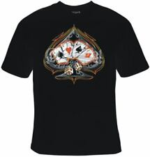 BRAND NEW FOUR OF A KIND POKER ACES T-Shirts Small to 5XL BLACK or WHITE
