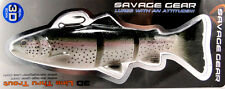 """SAVAGE GEAR 3D LINE THRU TROUT 8"""" SWIMBAIT FLOATING SLOW SINK SINKING ROF SELECT"""