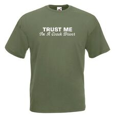 Trust Me I'm A Coach Driver Olive Green Standard T-Shirt psv bus drive ALL SIZES