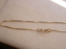 ".50MM 10K SOLID YELLOW GOLD WOMEN'S BOX CHAIN NECKLACE 16"" 18"" 20"" 22"" 24"""