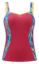 Brand New Panache Sports 7345 Coral Vest Top With Bra D-H Cup VARIOUS SIZES