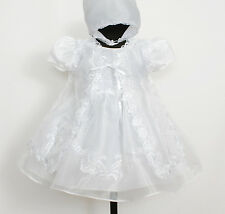 New Baby Christening Gown,Cape,Bonnet Newborn to 9 Months