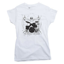 THE PERFECT DRUMMER T-shirt percussionist drum music LADIES S-XXL