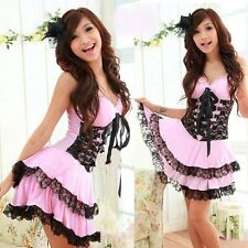 Sexy Lolita Princess Dress Costume for Cosplay/Halloween Party (White/Pink)