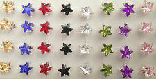 Earrings Beautiful star design 8  colours great cheap gift xmas birthday bargain