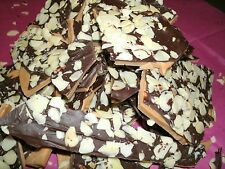 1lb Homemade Toffee, Topped w/ Chocolate & Almonds, or pecans. EnglishToffee