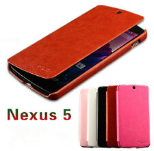 New KLD® Stylish Ultra-thin Wallet Flip Leather Case Cover for LG Google Nexus 5