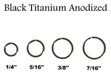 16G 18G 20G Black Titanium Anodized Seamless Nose Tragus Cartilage Hoop Ring