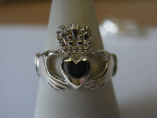 sterling silver cladddagh ring fully hallmarked
