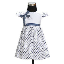 New Girls Polka Dot Cotton Summer Party Dress from 12 Months to 3 Years