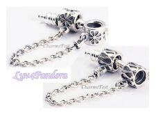 925 Sterling Silver Safety Chain Series A fits European Bead Charm Bracelets