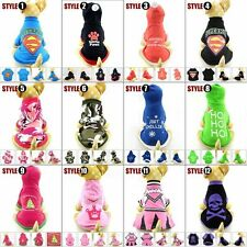 VARIOUS DOG Hoodie T shirt Tee puppy small Dog pet clothes Costume XS S M L