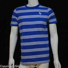 Abercrombie & Fitch Men's Short Sleeve T Shirt Avalanche Mountain Navy/White NWT