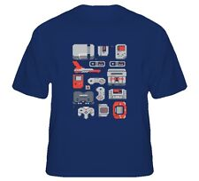 Nintendo Vintage Classic Retro NES System Controllers Video Game T Shirt