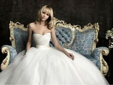 New White Wedding Dresses Bridal Dress Gown Stock Size 6 8 10 12 14 16