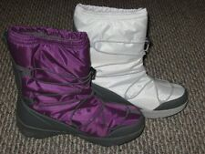 LANDS END Womens WINTER Function SNOW BOOTS plum PURPLE or SNOWDRIFT white US 11