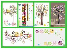 Au Seller 6 Styles LARGE Owl Tree Flower removable kids Nursery Wall Stickers