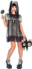Gothic Girlie Goth Baby Doll Zombie Girl Fancy Dress Up Halloween Adult Costume
