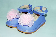 Baby girls toddler Tiny Squeak Princess Lilac squeaky shoes 3 4 5 6 Infant UK