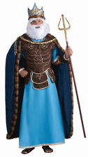 King Neptune Poseidon Roman Greek God Sea Fancy Dress Up Halloween Adult Costume