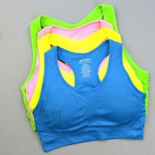 New Jockey Seamless CROP TOP/ SPORTS BRA Racer Action Back removable cup S M
