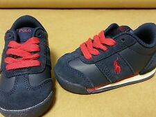 Polo Ralph Lauren Toddler Shoes Navy Slider Pony Sneaker Sizes 4-10