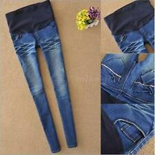 New Hot Sale Maternity Over Bump Skinny Jean Fashionable Blue leggings Pants