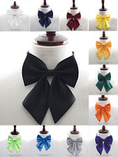 NEW Pre-tied Satin Girl women thin Bowtie sailor school Necktie