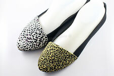 2 color , Womens Comfy Ballet Flats Casual Leopard Print Flat Shoes x 1pair