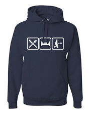 Eat Sleep Tennis Hoodie Sweatshirt Court Racket Player w/Free Sticker! FREE S&H!
