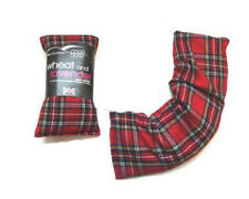 Microwave Pain Reliever Tartan Wheat Bag Herbal Heat Pack Warmer Lavender Scent