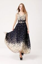 Women's Loose Clubwear Long Ball Gown Cocktail Formal Night Party Floral Dress