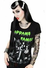 Restyle Addams Family T-Shirt | Goth Horror Movie Tee Shirt Punk Morticia Top