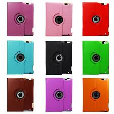 360 Degree Rotating PU Leather Case Cover For iPad Mini With Sleep & Wake New