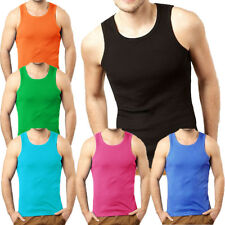 Soulstar Fresh Ribbed Slim Fit Vest Top  Mens Size