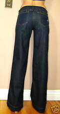 $220 Juicy Couture Sweet Pea Wide Leg Flare High Waist Dark Jeans 25 X-Long NWT