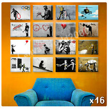 HUGE Canvas Banksy Set of 16 lot olympic angel baloon photos poster art print