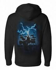 Airbrushed Drummer Hoody percussionist Drum Kit Hoodie rock Small to XXL