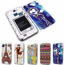 Heart Key Stripes Battery Back Door Cover Case for Samsung N7100 Galaxy Note 2